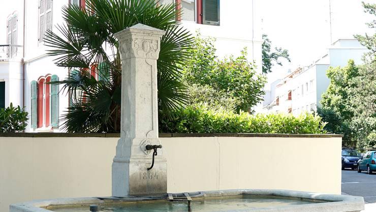 Am 25. August wird dieser bisher namenlose Brunnen «Friedrich Nietzsche Brunnen» getauft.