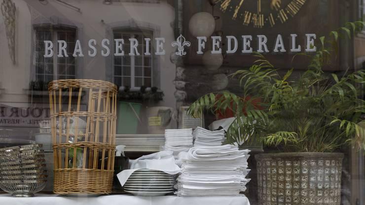 Am meisten betroffen sind Gastro-Betriebe wie hier die Brasserie Federale am Märetplatz – ebenfalls eine Mieterin von Urs Rudolf.