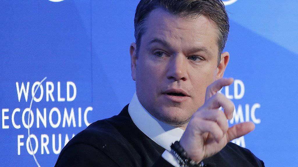 Matt Damon zu Besuch am WEF