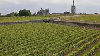 Weine aus Frankreich waren 2019 gefragt. Im Bild: die Bordeaux-Gemeinde St. Emilion. (Archivbild)