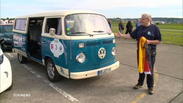 40-jähriger Kult-VW-Bus ganz ökologisch