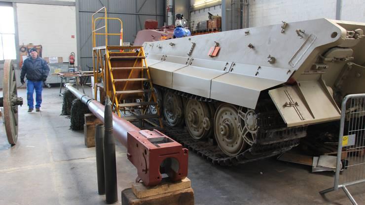 Bewegte Geschichte: Das «Königstiger»-Modell im Militärmuseum in Full ist einer von nur zwei noch fahrbereiten Panzern seiner Art.