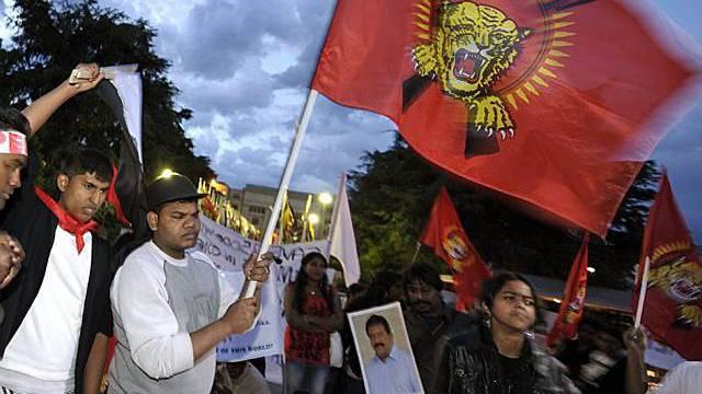 Tamilenkundgebung in der Schweiz