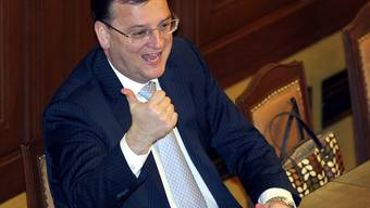 Regierungschef Petr Necas im Parlament