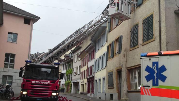 Feuerwehr rettet Mann