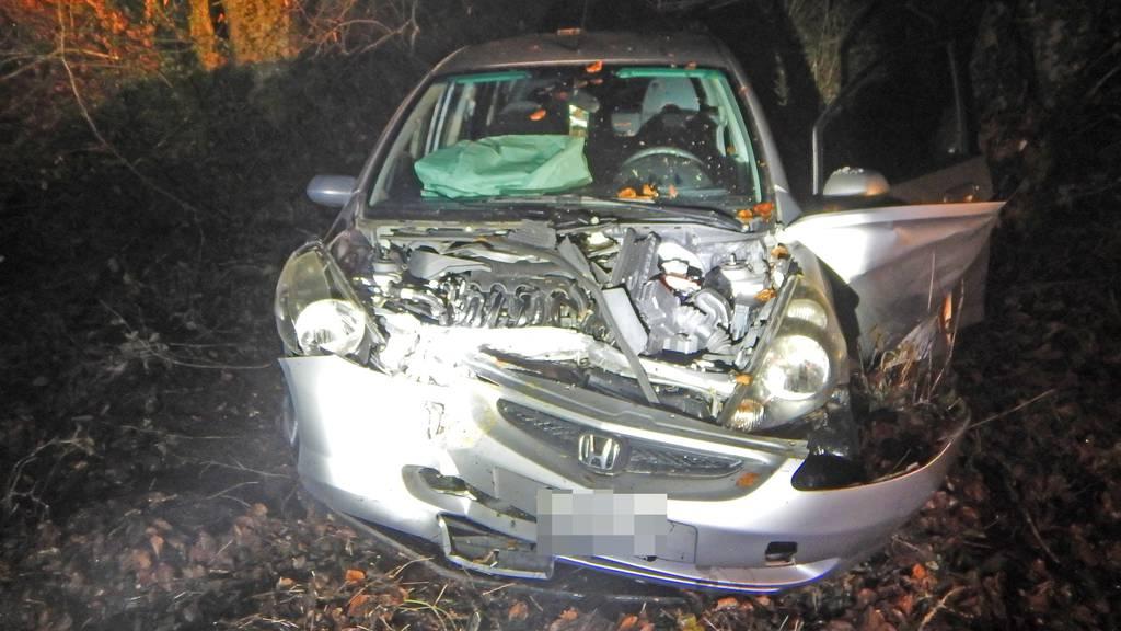 Autofahrer prallt in Baum und wird verletzt