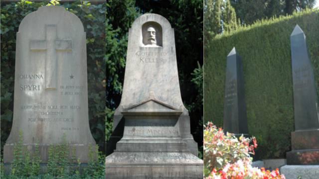 Friedhof Sihlfeld: Letzte Ruhestätte von Johanna Spyri, Gottfried Keller und August Bebel