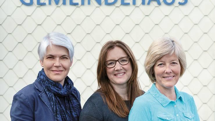 v.l.n.r. Gabriela Lätt, Susanne Hess, Elisabeth Burri