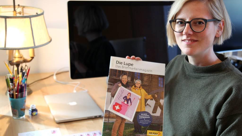Kleine Marke, grosse Wirkung: Luzerner Grafikerin bringt die Helvetia in die Haushalte