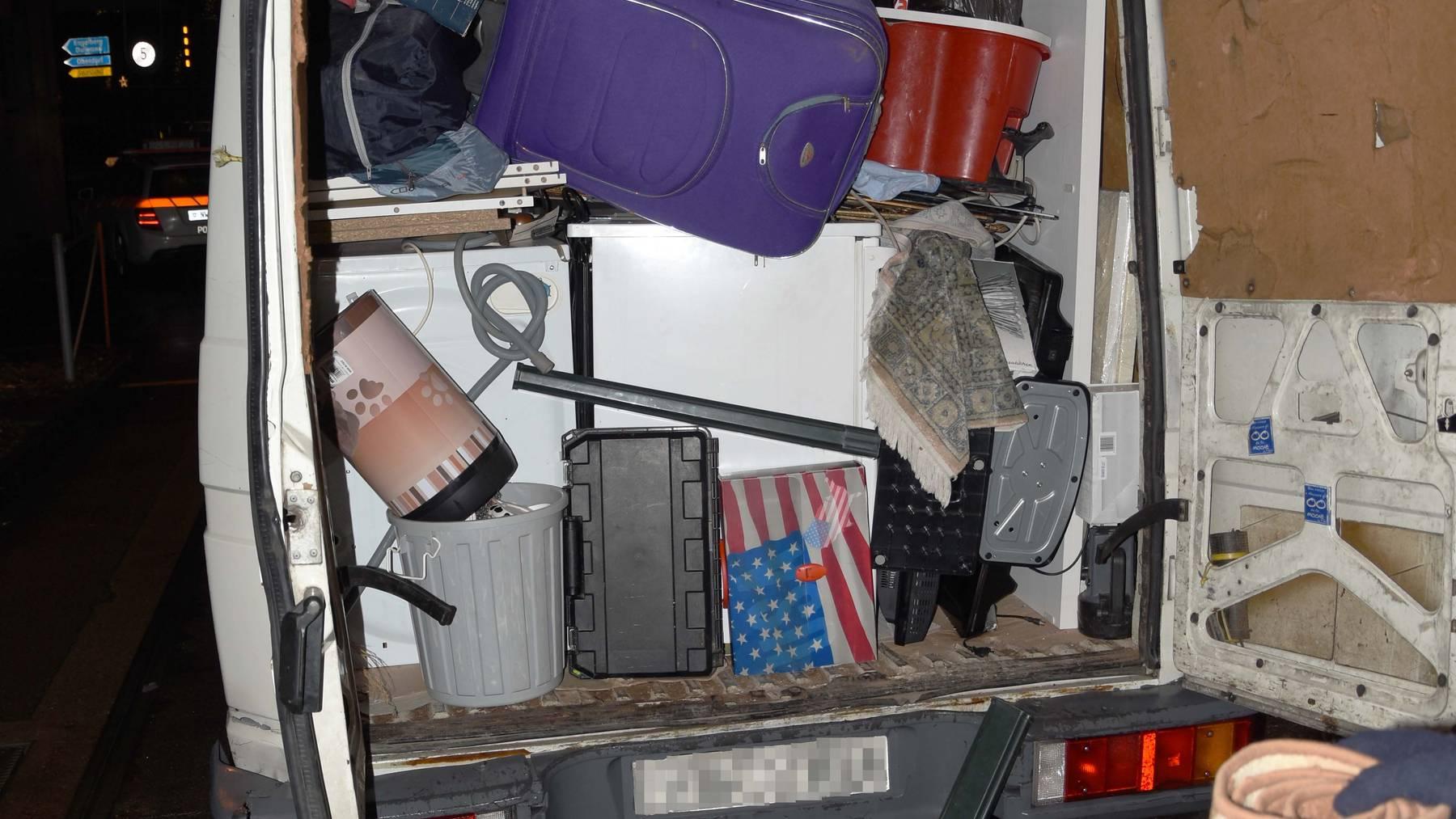 Stans: Lieferwagen war massiv überladen