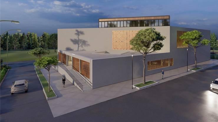 Eine Visualisierung des geplanten Zentrums «Tulipan» in Reinach.
