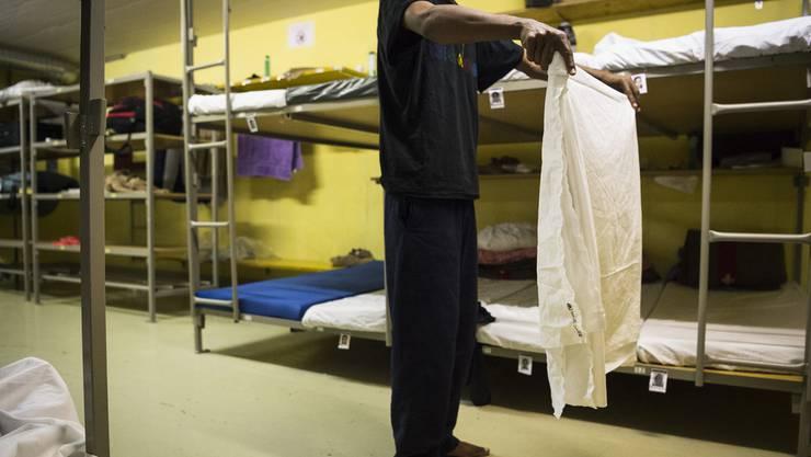 Asylunterkunft der als Asylnotunterkunft genutzten Zivilschutzanlage in St. Gallenkappel
