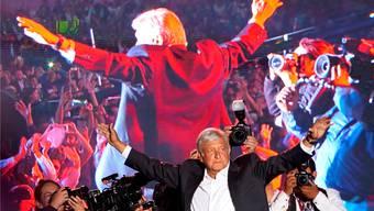 Klappt es diesmal? Präsidentschaftskandidat Andrés Manuel López Obrador führt souverän.Ramon Espinosa/ap
