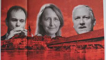 Die Weltwoche ortet einen roten «Oltner Sozialfilz». Ihre Illustration zum Artikel zeigt Peter Schafer, Brigitte Kissling und Peter Gomm.