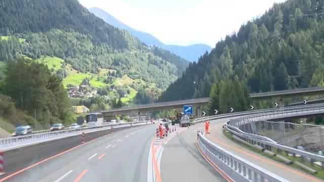 Gotthard nachts gesperrt