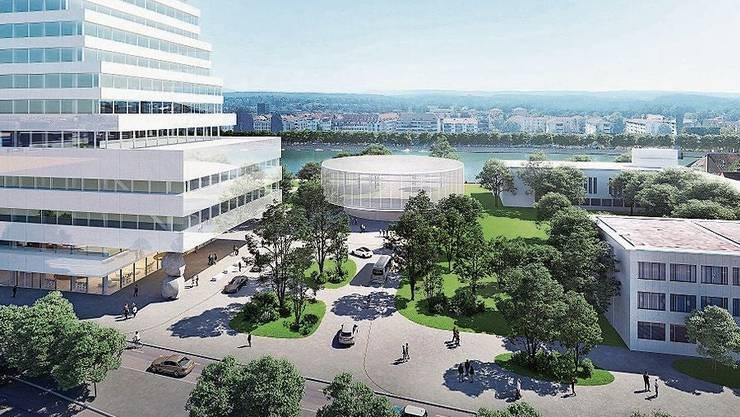 Eine neue Adresse in der Stadt: Der Roche Campus.