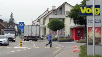 Entschärfung der Gefahrenstelle Strasse im Zentrum von Gipf-Oberfrick ein umgesetztes Leitbildthema. chr