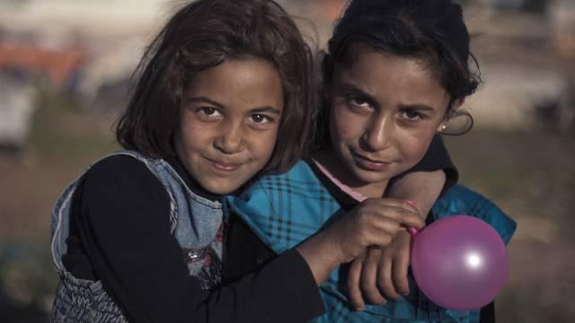 Syrische Mädchen in einem jordanischen Flüchtlingscamp (Archiv)