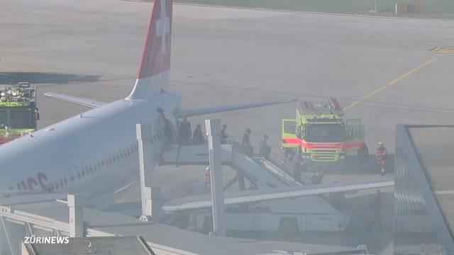 Explosion und Feuer am Flughafen