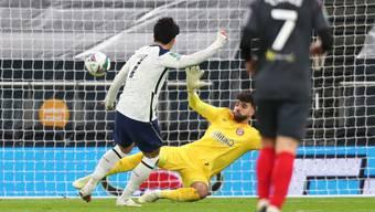 Das entscheidende Tor: Tottenhams Stürmer Heung-min Son trifft zum 2:0 für sein Team.
