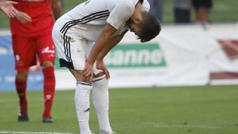 Trotz eines Treffers muss sich Karim Gazzetta mit Stade Lausanne-Ouchy in Vaduz geschlagen geben (Archiv)