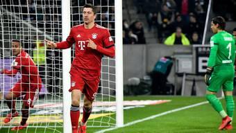 Robert Lewandowski und seine Bayern haben den Rückstand auf den BVB bereits wettgemacht.
