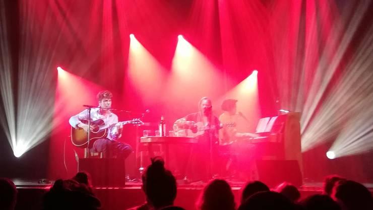 Faber, Sophie Hunger und Dino Brandao beim Konzert in Zürich.