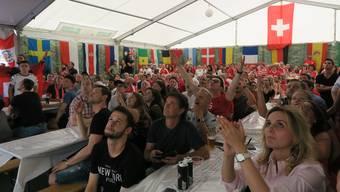 Public Viewing: Schweden-Schweiz im Rietpark Schlieren