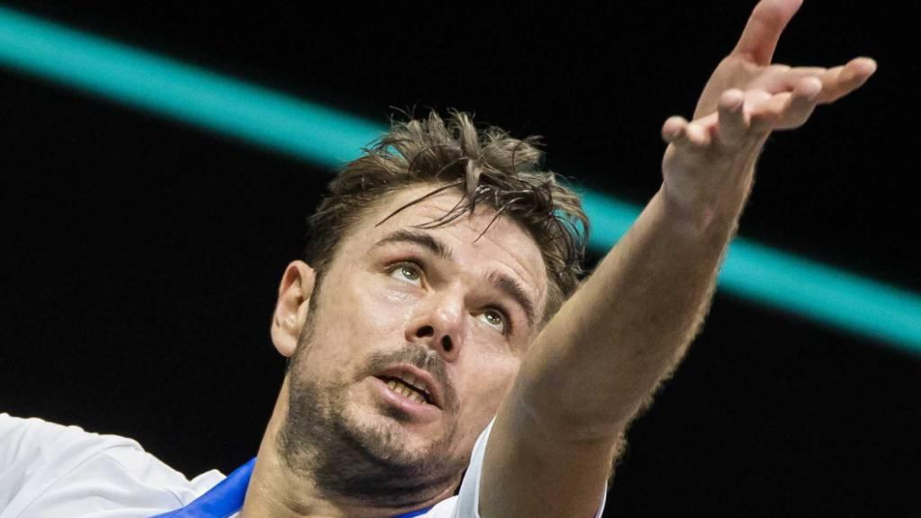 Zwei Aufschlagspiele gab Wawrinka gegen Chatschanow ab