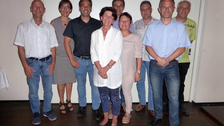 Kandidatinnen und Kadidaten der SVP Gebenstorf für die Gesamterneuerungswahl September 2017