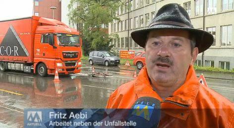 Nach Velo-Unfall: «Ich sah nur noch, wie ein Fuss unter LKW hervorschaute»