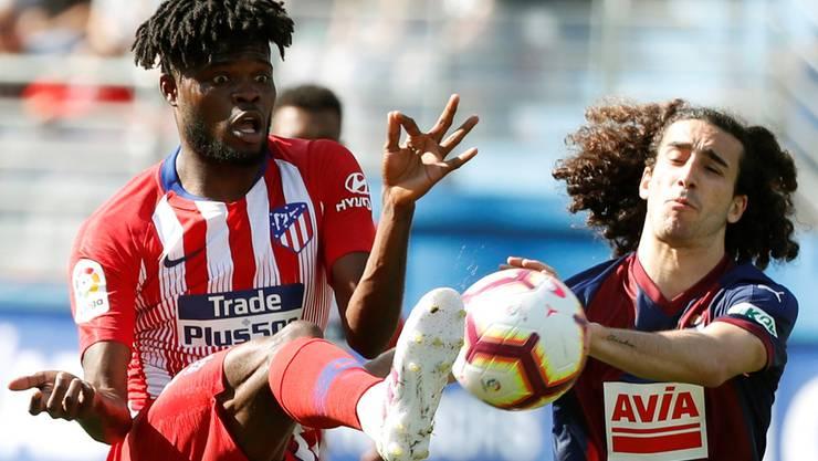 Thomas Partey (l.) spielt für Athletico Madrid und Ghana.