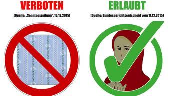 Die Junge SVP Schweiz kontert den Schwingerhemd-Aufruhr an der Schule Gossau ZH mit einer Politaktion.