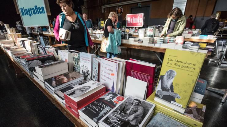 Das Kulturzentrum Schützi diente als Zentrum des Oltner Buchfestivals. Der grosse Ansturm blieb jedoch aus.