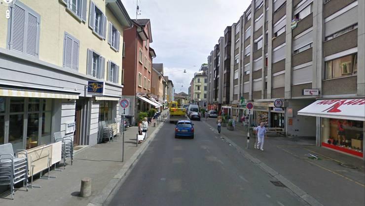 Blick in die Brauerstrasse: Hier kam es zur Auseinandersetzung