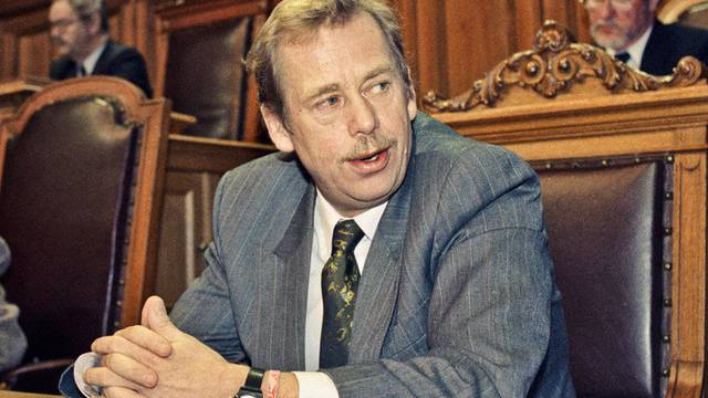 Vaclav Havel 1990 im Bundeshaus in Bern (Archiv)
