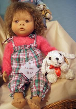 Das süse Puppenkind Elina von Heidi Kreis, die in Engstringen aufgewachsen ist und heute in Luzern lebt und werkt