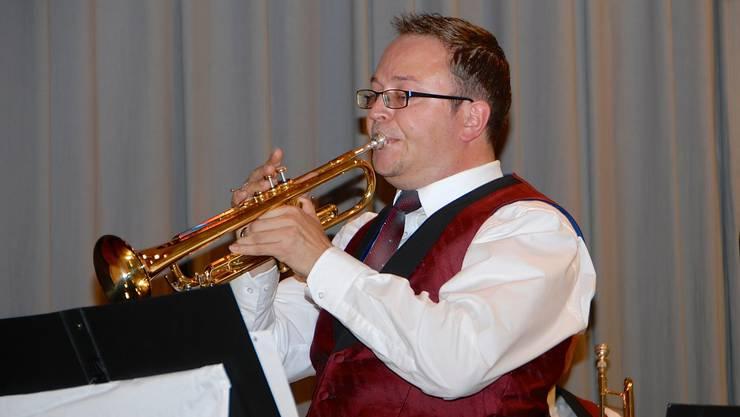 Roman Locher, Trompete, in der Glenn Miller Suite