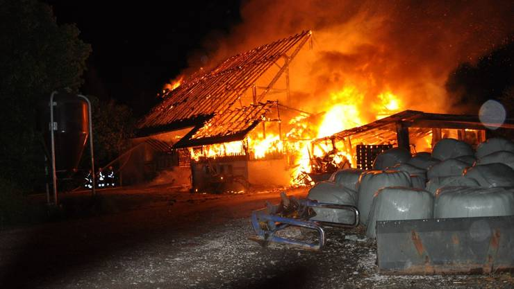 Der Bauernhof Witi brannte in der Nacht auf Freitag.