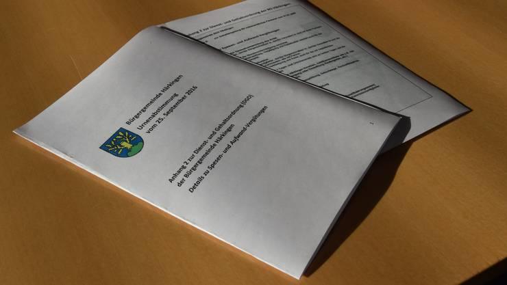 Der Anhang 2 zur Dienst-und Gehaltsordnung wurde vom Stimmvolk nicht angenommen.