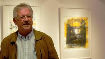 Claude Barbey anlässlich seiner Ausstellung 2014 in der Adamgalerie Bettlach.