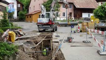 Baustelle Pilgerbachbrücke in Oberhof