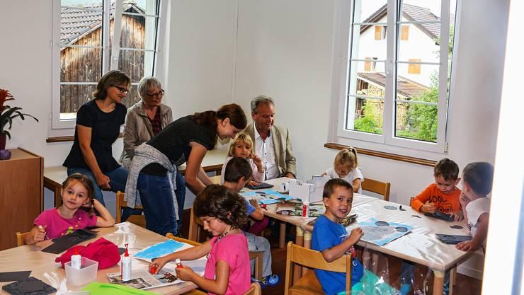 Derzeit besuchen 17 Kinder die neue Kindergarten-Abteilung in Frick.