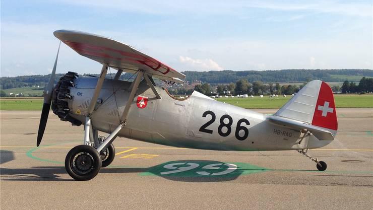 Die historische Maschine der Schweizer Luftwaffe.