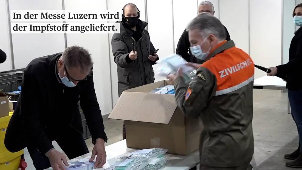 Luzern startet mit der Corona-Impfkampagne