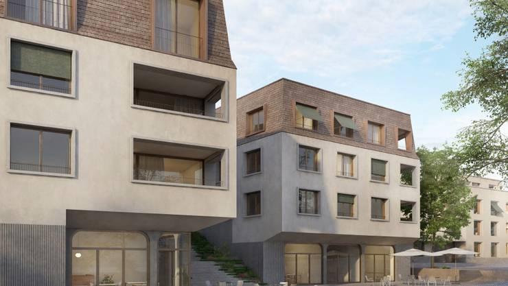 Die Zentrumsüberbauung sieht sechs Mehrfamilienhäuser vor.