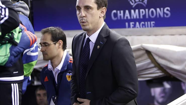 Gary Neville ist mit Valencia in der Meisterschaft noch nicht auf Touren gekommen