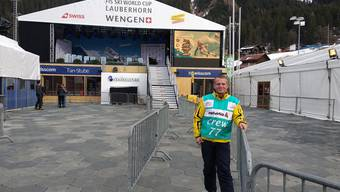 Andreas Lüthi im noch verlassenen Welt-Cup Dörfli in Wengen.