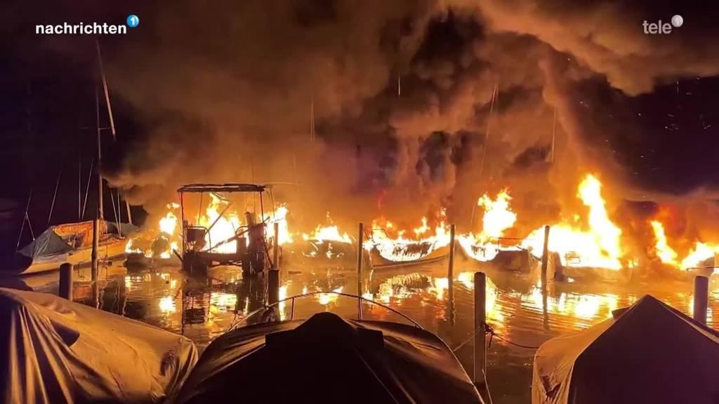 Grosser Sachschaden bei Brand im Hafen Lachen