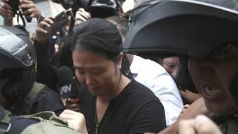 Die peruanische Oppositionsführerin Keiko Fujimori wird gegen Zahlung einer Kaution auf freien Fuss gesetzt. (Archivbild)